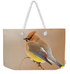 Cedar Wax Wing Weekender Tote Bag