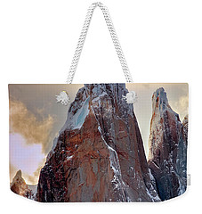 Weekender Tote Bag featuring the photograph Cerro Torre by Bernardo Galmarini