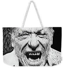 Charles Bukowski Weekender Tote Bag by Taylan Apukovska
