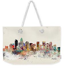 Charlotte North Carolina Skyline Weekender Tote Bag