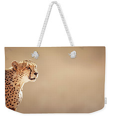 Cheetah Portrait Weekender Tote Bag by Johan Swanepoel