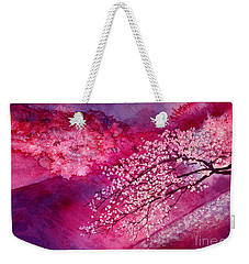 Weekender Tote Bag featuring the painting Cherry Blossoms by Hailey E Herrera
