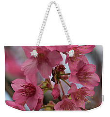 Weekender Tote Bag featuring the photograph Cherry Blossoms by Pamela Walton