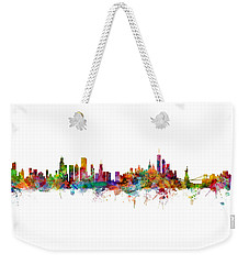 Chicago And New York City Skylines Mashup Weekender Tote Bag