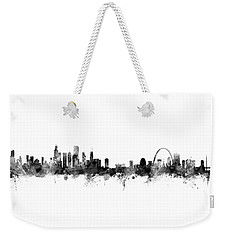 Chicago And St Louis Skyline Mashup Weekender Tote Bag by Michael Tompsett