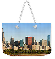 Chicago Downtown At Sunrise Weekender Tote Bag by Semmick Photo