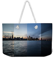 Chicago Skyline Time Slice  Weekender Tote Bag