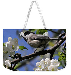 Chickadee Among The Blossoms Weekender Tote Bag