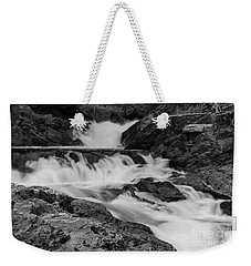Weekender Tote Bag featuring the photograph Chippewa Falls  by Rachel Cohen