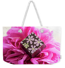 Chocolate Flower Weekender Tote Bag