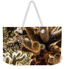 Weekender Tote Bag featuring the photograph Cholla Cacti by Lawrence Burry