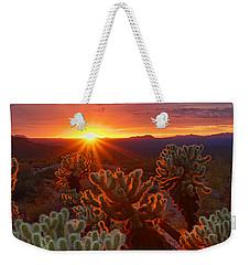 Cholla Sunset  Weekender Tote Bag