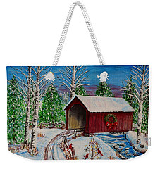 Christmas Bridge Weekender Tote Bag