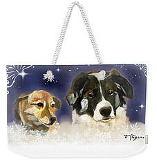 Christmas Doggies Weekender Tote Bag
