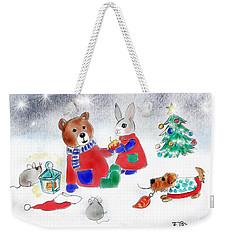 Christmas Friends Weekender Tote Bag