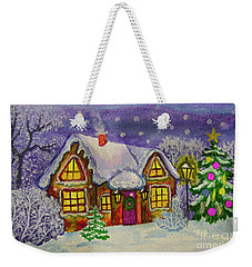 Christmas House, Painting Weekender Tote Bag