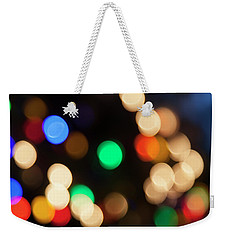 Weekender Tote Bag featuring the photograph Christmas Lights by Susan Stone