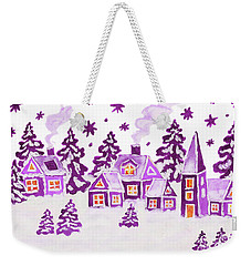 Christmas Picture In Raspberry Pink Colours Weekender Tote Bag