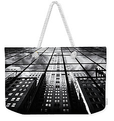 Weekender Tote Bag featuring the photograph Chrysler Reflections by Jessica Jenney