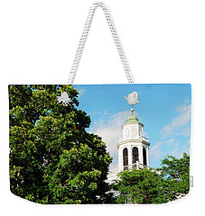 Weekender Tote Bag featuring the photograph Church On The Hill by James Kirkikis