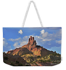 Weekender Tote Bag featuring the photograph Church Rock by Debby Pueschel