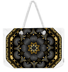 Weekender Tote Bag featuring the digital art Circularium No. 2616 by Alan Bennington