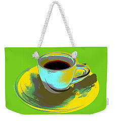 Weekender Tote Bag featuring the digital art Coffee Cup Pop Art by Jean luc Comperat