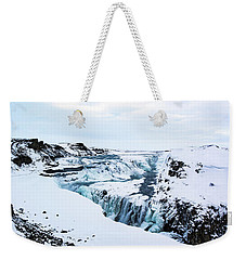 Cold Winter Day At Gullfoss, Iceland Weekender Tote Bag