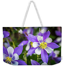 Colorado Columbines Weekender Tote Bag by Teri Virbickis