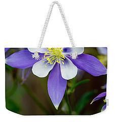Colorado State Flower Blue Columbines Weekender Tote Bag