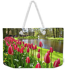 Colorful Blooming Tulips Weekender Tote Bag