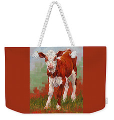 Colorful Calf Weekender Tote Bag by Margaret Stockdale