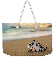 Conch Shell At Sunrise Weekender Tote Bag