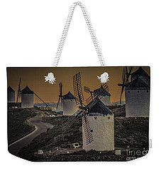 Weekender Tote Bag featuring the photograph Consuegra Windmills 2 by Heiko Koehrer-Wagner