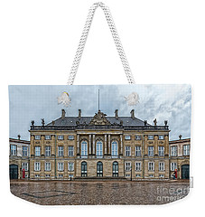Weekender Tote Bag featuring the photograph Copenhagen Amalienborg Palace by Antony McAulay
