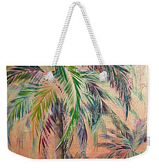 Copper Trio Of Palms Weekender Tote Bag