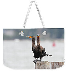 Cormorants Port Jefferson New York Weekender Tote Bag by Bob Savage