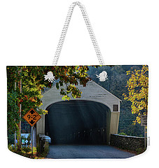 Weekender Tote Bag featuring the photograph Cornish-windsor Covered Bridge by Jeff Folger
