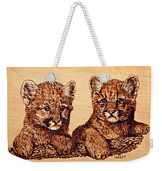 Cougar Cubs Weekender Tote Bag by Ron Haist