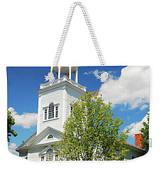 Weekender Tote Bag featuring the photograph Country Church by James Kirkikis