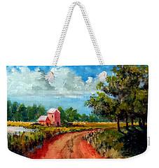 Country Lane Weekender Tote Bag by Jim Phillips