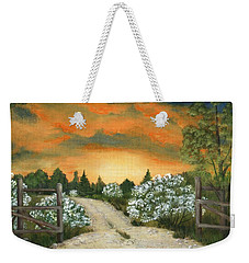 Weekender Tote Bag featuring the painting Country Road by Anastasiya Malakhova