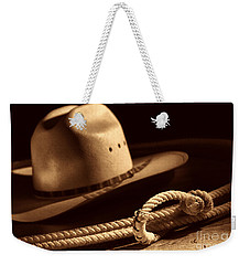 Cowboy Hat And Lasso Weekender Tote Bag by American West Legend By Olivier Le Queinec