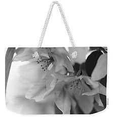 Crabapple Blossom Black And White Weekender Tote Bag