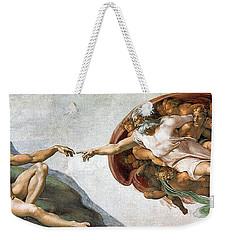 Creation Of Adam Weekender Tote Bag