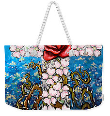 Cross Of Flowers Weekender Tote Bag by Kevin Middleton