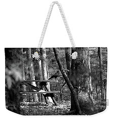 Crow On A Table Weekender Tote Bag