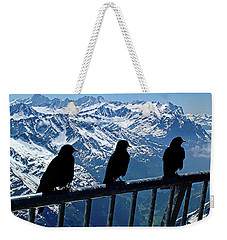 Crows On Top Of Mount Titlis - Switzerland Weekender Tote Bag by Joseph Hendrix