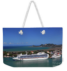 Weekender Tote Bag featuring the photograph Cruise Port by Gary Wonning