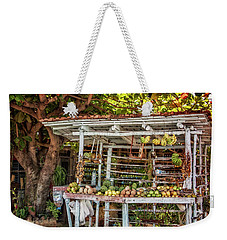 Weekender Tote Bag featuring the photograph Cuban Fruit Stand by Joan Carroll